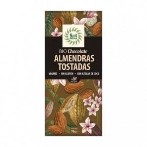 CHOCOLATE Y ALMENDRAS TOSTADAS BIO 70 G, SOL