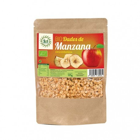 DADOS DE MANZANA BIO 125 G, SOL