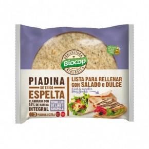 PIADINA ESPELTA 50% INT LINO  225GR BIOCOP