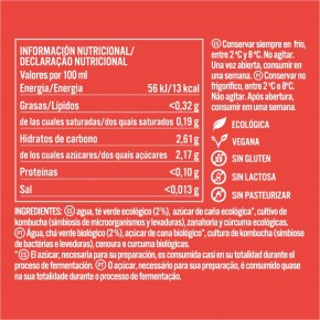 KOMBUCHA ZANAHORIA Y CURCUMA 0.75L,  KOMVIDA
