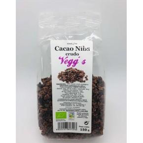 CACAO CRUDO NIBS (100% CACAO) 150GRS.VEGGS