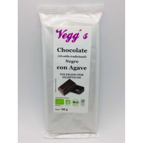 CHOCOLATE NEGRO CON AGAVE (70% CACAO) TABLETA    100GRS.VEGG